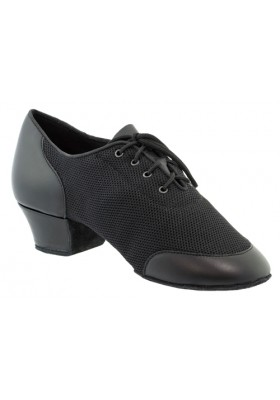 Galex - Vento - Black leather / Air mesh - Heel 4cm