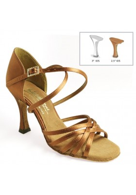 "Flavia - Tan Satin - 2"" Heel"