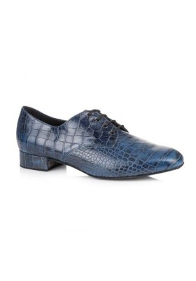 "Kelly - Blue Crocodile - 1"" Mens heel"