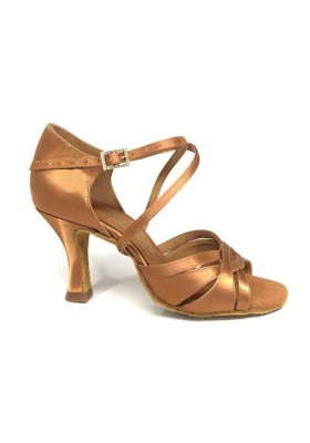 "Mia - Tan Satin - 2"" Heel"